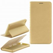 Чехол книжка Sony D6603 Xperia Z3 New Case 001 золотой