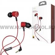 Наушники с микрофоном Baseus H07 Red/Black