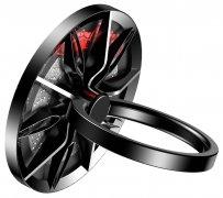 Кольцо-держатель Baseus Wheel Black/Silver