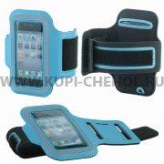 Чехол на руку Apple iPhone Sport голубой 3480