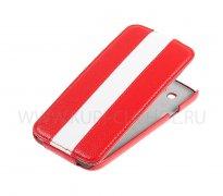 Чехол флип Samsung i9150 Galaxy Mega 5.8 UpCase красный белый