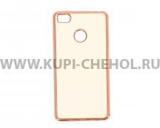 Чехол-накладка Xiaomi Mi 4s Hallsen прозрачный с красными краями