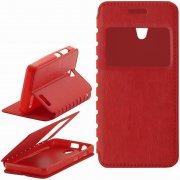 Чехол книжка Lenovo A319 П19025 с окном красный
