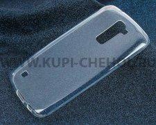 Чехол-накладка LG K10 / K410 iBox Crystal прозрачный глянцевый 1.25mm