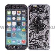Защитное стекло Apple iPhone 6 4.7 9343 2 в 1 черное