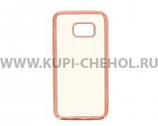 Чехол-накладка Samsung Galaxy S7 Hallsen прозрачный с красными краями без логотипа