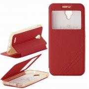 Чехол  откидной  Alcatel  6016X / 6014X  Armor Air Slim  Book  красн  с окном