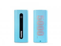 Power Bank  5000 mA  Remax  E5  голубой