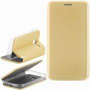 Чехол книжка Samsung Galaxy J1 mini 2016 Book Case New 3D золотой