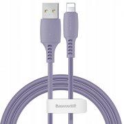 Кабель USB-iP Baseus Colorful Purple 1.2m 2.4A