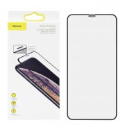Защитное стекло iPhone XS Max/11 Pro Max Baseus Cellular Dust Prevention Black 0.3mm УЦЕНЕН