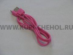Кабель USB-Micro Remax R-006 розовый 1м