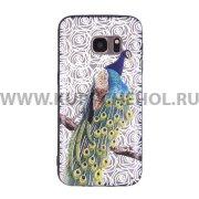 Чехол-накладка Samsung Galaxy S7 Павлин 10161