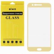 Защитное стекло LG K20 Plus Aiwo Full Screen золотое 0.33mm
