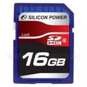 SD 16Gb class 6 к/п Silicon
