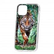 Чехол накладка для телефона iP 11 Pro Kruche Print Крадущийся тигр