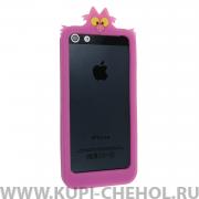 Чехол-бампер Apple iPhone 5/5S/SE силиконовый Disney Чеширский Кот