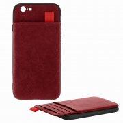 Чехол-накладка iPhone 6/6S 10551 с карманом красный