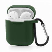 Чехол для Apple AirPods силиконовый зелёный
