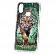Чехол-накладка Samsung Galaxy A10S Kruche Print Крадущийся тигр