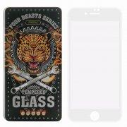 Защитное стекло Apple iPhone 7 Proda Four Beasts 3D Full с силиконовой рамкой White
