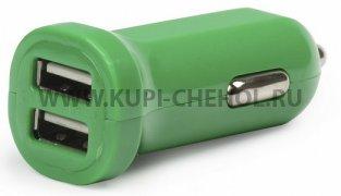 Автоадаптер 2.1А 2USB SmartBuy SBP-8340 зелёный