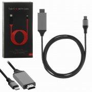 Кабель HDTV-Type-C Plug&Play черный/серый 2m