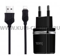 СЗУ 2USB 2.4A+кабель USB-iP Hoco C12 1m Black