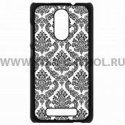 Чехол-накладка Xiaomi Redmi Note 3 Кружево 9420 чёрный