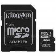 Micro SD 32GB class 4 + адаптер к/п Kingston