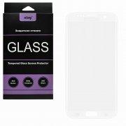 Защитное стекло Samsung Galaxy S7 Edge Ainy Full Screen Cover 3D белое 0.22mm