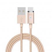 Кабель USB-Type-C Hoco U16 Magnetic Gold 1.2m
