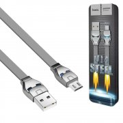 Кабель USB-Micro Hoco U14 Steel Man Gray 1.2м