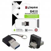 Флеш OTG USB-Micro Kingston DTDUO3 64Gb USB 3.0