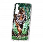 Чехол-накладка Huawei Honor 20 Kruche Print Крадущийся тигр
