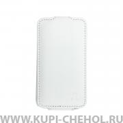 Чехол флип Samsung S5830 Galaxy Ace Rada 8000 белый