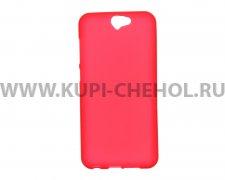 Чехол-накладка HTC One A9 малиновый матовый