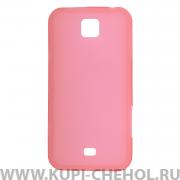 Чехол силиконовый Samsung C6712 Star 2 Duos светло-розовый матовый
