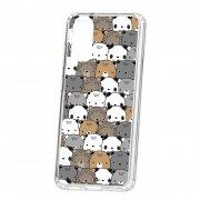 Чехол-накладка Samsung Galaxy S20 Kruche Print Медвежата