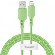 Кабель USB-iP Baseus Colorful Green 1.2m 2.4A