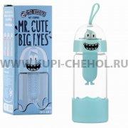 Стеклянная бутылка WK Mr.Cute Big WT-CUP06 Blue