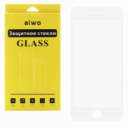 Защитное стекло Apple iPhone 6/6S Aiwo Full Screen 3D белое матовое