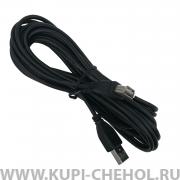 Кабель USB-USB(F) SmartBuy K-855-80 черный 5m