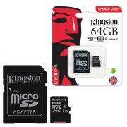 Micro SD 64Gb class 10 к/п Kingston UHS-I Canvas Select 80Mb/s+адаптер