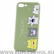 Чехол-накладка Apple iPhone 7 Plus 33003 Hello Green