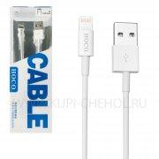 Кабель USB-iP HOCO UPL02 белый