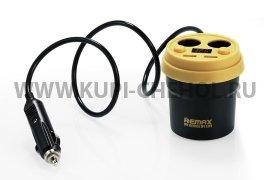 Разветвитель АЗУ - 2 АЗУ + 2 USB Remax CR-2XP Black