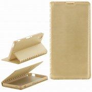 Чехол книжка Sony Xperia M4 Book Case New золотой