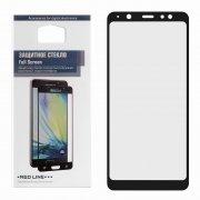 Защитное стекло Samsung Galaxy A6 Plus (2018) A605f Red Line Full Glue черное 0.33mm