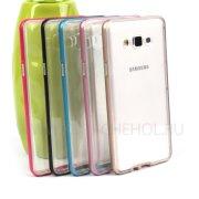 Чехол-накладка Samsung Galaxy A7 A700f 8574 тёмно - розовый